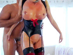 tart In Oily Latex with Suspenders stocking plumbed