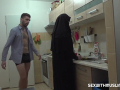 Arab hottie was cooking and it ended with sex