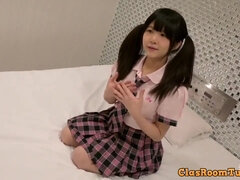 Fingering sweet pussy of Japanese schoolgirl Yui Challenge