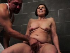 Grown-up granny gets pounded