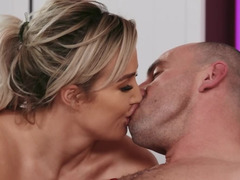 Lucky bald dude is fucking amazing blonde and brunette