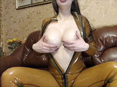 latex Rubber taunt and fuck stick fuck