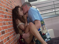 Latina Melody Petite used by horny landlord