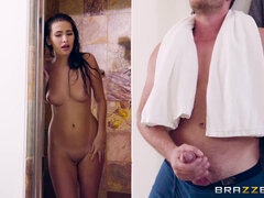 Little stepsis Olivia Nova gets caught masturbating and fucked
