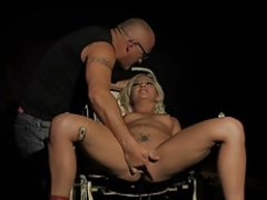 Pussyfucked dependent punished by crazy mistress
