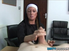 Real British Nun Penalizing Stiff Pecker