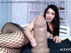 Hotkinkyjo take XXXL Mateo fake penis in her assfuck fuck hole & mini-rosebud
