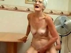 Insatiable Granny Just Loves Purple rod !
