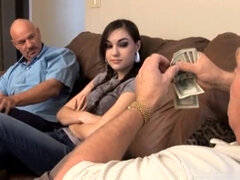 Old guys payed Sasha Grey for a threesome sex
