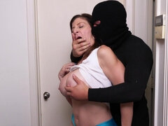 Sara Jay is fucking a horny burglar