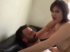 Curvy woman Laura Louise gets mouth fucked and additionally rough sex