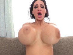 Huge breasts bitch Amy Anderssen goes black in a large way