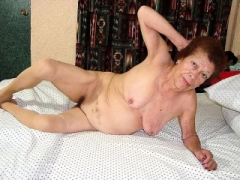 Rotund Granny with Toys Then a Real Cock