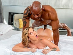 Flexible sex angel Jada Stevens impaled by a massive black snake