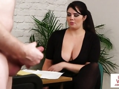 breasty british voyeur encourages her sub