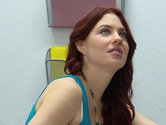 Hot redheaded student slut having an intercourse explicit in class