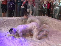 Group Mud Battle Rips Through The Club