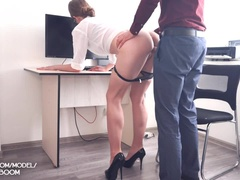 Sex in Office with Young Secretary Facial Cum 4K POV KaterinaAmateur