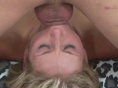 Lovely blonde will never forget terrific deepthroat blowjobs