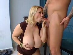 Busty Samantha gets drilled in her wet and pink pussy