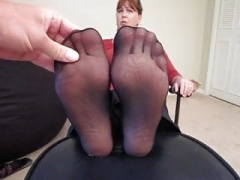 Nylon Soles Blasted With Cum