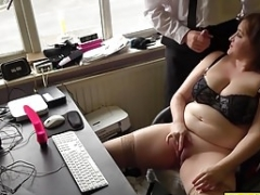 Aroused brunette and slightly fat Mom i`d like to fuck Laura Louise solo enjoyment
