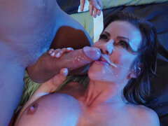 Super sex hero Alexis Fawx milks cocks at night