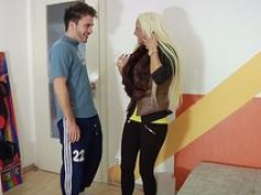 German 18-19 year old Tight Tini Talk from Street to Make love by Stranger