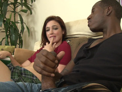 Jodi Taylor finds his large black cock irresistible