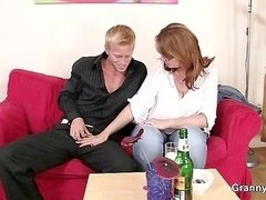 He picks up drunk mom and moreover makes love her hard