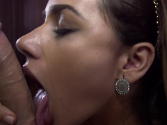 Sizeable booty Latina maid gets paid in orgasms for her services