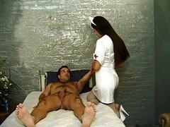 Bad Latina nurse riding cum cannon heals patient