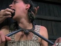 Submissive Gagged and furthermore Teased