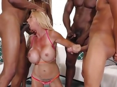 Cougar Stepmom Gets Gang-fucked By BBCs - Brooke Tyler