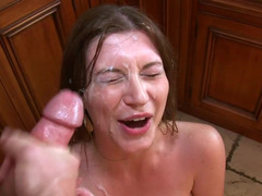 Brunette tramp with big saggy tits truly knows how to fuck