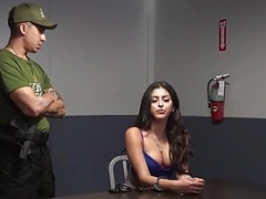 Latina hoe has to suck a huge cock to get out of jail