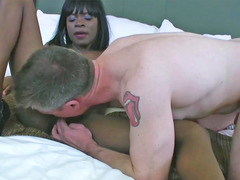 Sasha Fierce is having interracial sex with a excited lad