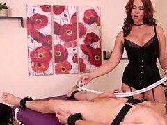 ginger-haired domme Cock treatment
