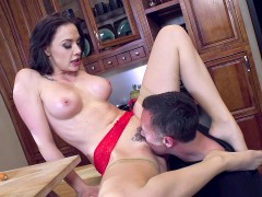 Chanel Preston gets her slit tongued and fucked with a carrot