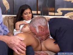 Glamorous Victoria Valencia in a hot theesome bang