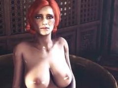 Hot Triss fucked by large dick alien