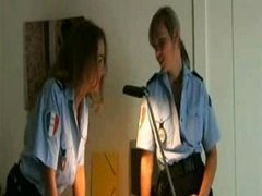 Horny Policewomen Get Mad in Locker Room