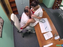 Hot new nurse shows doctor why she's best for the job