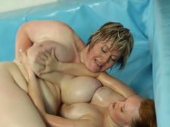 Wrestling big beautiful women plowed after winning catfight