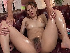 Hirsute vagina Japanese beauty fucked with toys