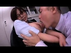 Asiatic broad with big breasts get groped by man that was