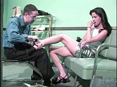 Shoe Salesman With A Foot Fetish plows A marvelous brunette Hard In His Shop