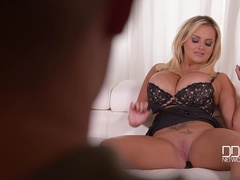 Big Jugs Set Free - A Breath-Taking Busty Babe's Masturbation