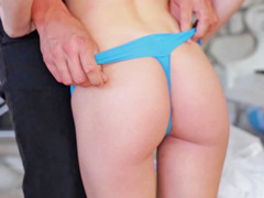 A piano lesson turns into a sex lesson in this clip
