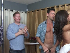 Brittany Bliss & Audrey Show share the groom during bachelor party
